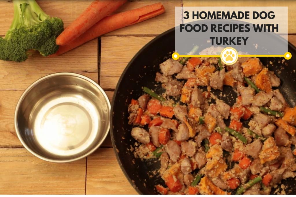 A plate of homemade dog food