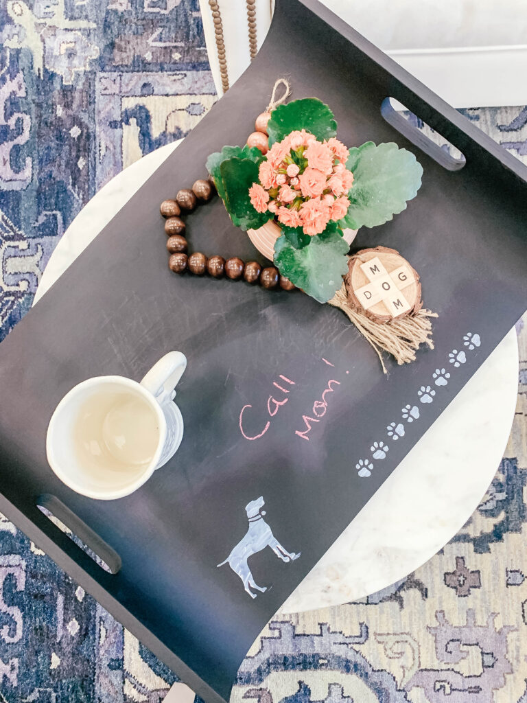 Chalk tray DIY pet mom gift for Mother's Day project